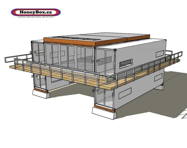 Container House Honeybox.ca 4x40 Flat Pad on Metal Buildings As Homes Floor Plans